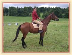 Chuezca a její první kroky s jezdcem