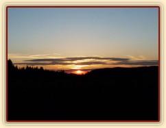 Západ slunce na našich pastvinách