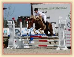 Vikina v soutěži stupňovaná obtížnost do 100 cm