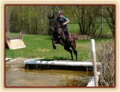 Arwen a její první skok do vody