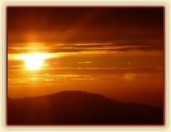 Výlet, západ slunce za Javorem (DE)