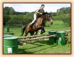 Skákání Czaju moc baví, skáče ochotně